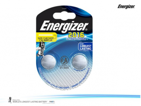 CR2016 duo ENERGIZER Lithium Ultimate