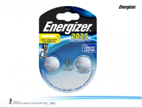 CR2025 duo ENERGIZER Lithium Ultimate